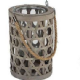 Country Living Wicker & Glass Lantern Available in 2 sizes.